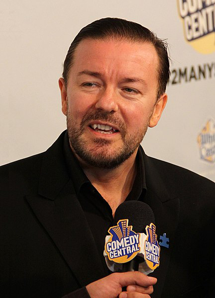 Ricky Gervais, host of the 2020 Golden Globes