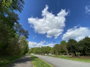 A bright spring afternoon in an uncharacteristically vacant Triad Park, Kernersville, NC.