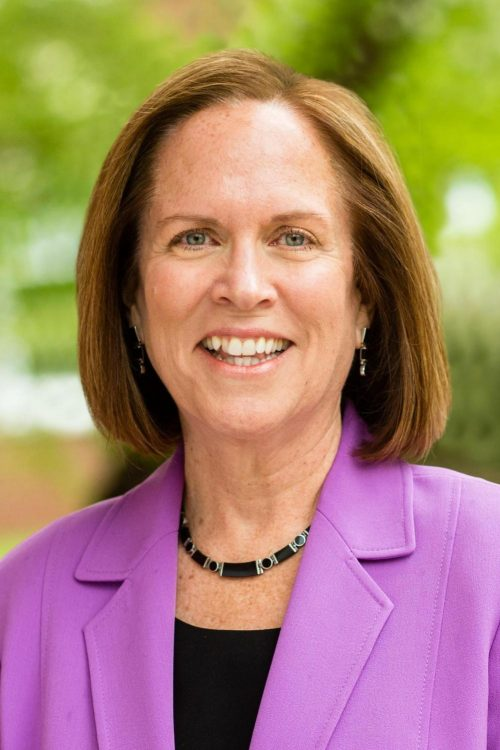 Jane Fernandes, recently resigned president of Guilford College