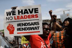 Nigerian protestors call for SARS to be disbanded