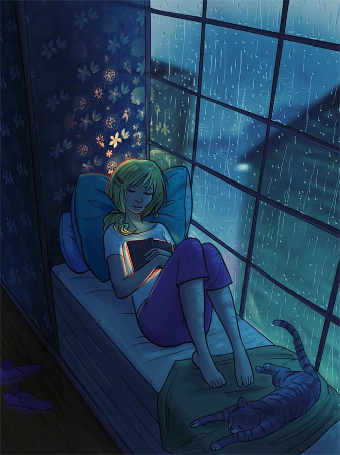 Rainy day hobbies give students nostalgic experiences
