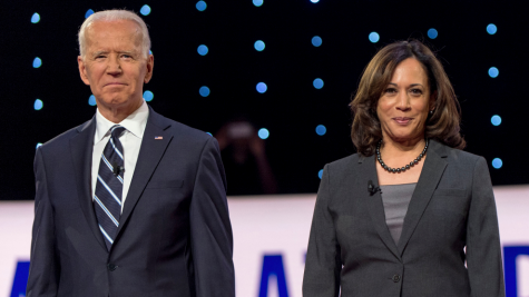 President-elect Joe Biden and Vice President-elect Kamala Harris stand together.