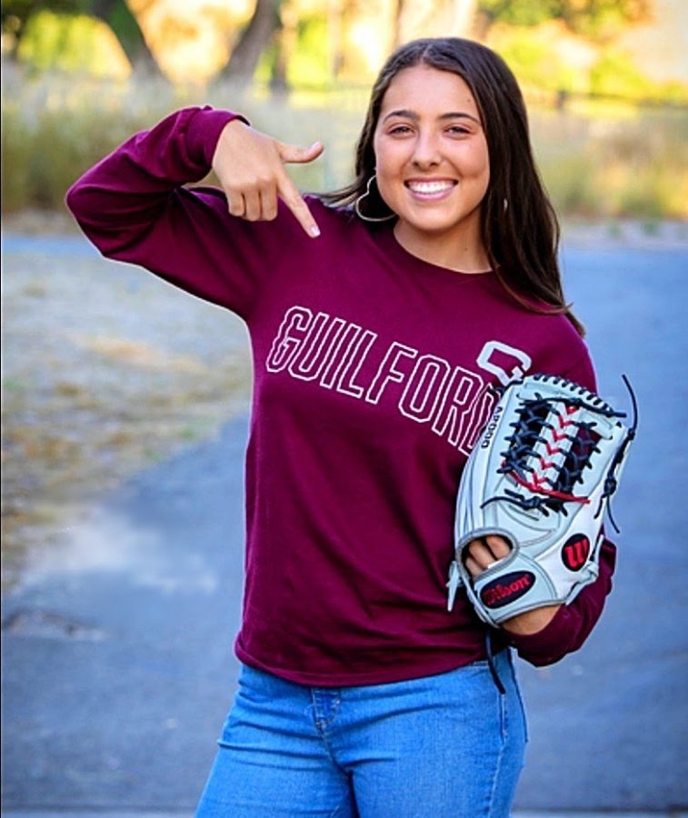 First-year student and Guilford softball player Kylee Duarte.