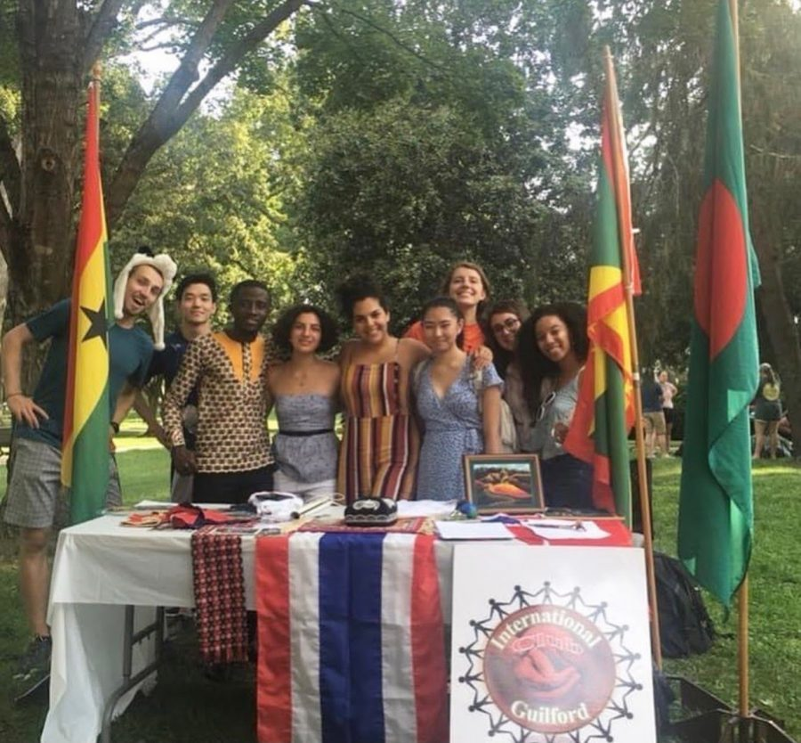 """International Club Tabling at the 2019 Guilford Student Club Fair"""
