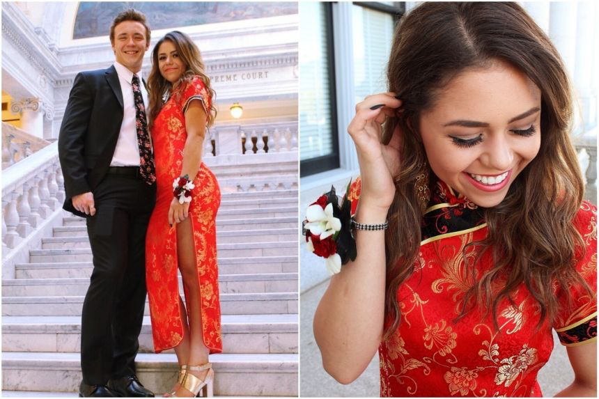 U.S.+teen+dons+a+qipao%2C+a+traditional+Chinese+dress+as+a+%E2%80%9Cprom+dress.%E2%80%9D