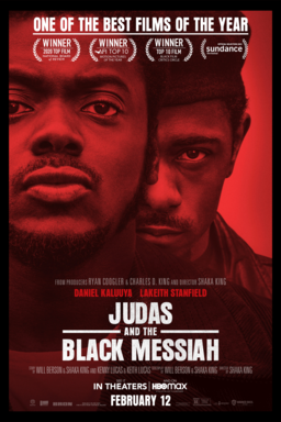 "Official movie poster for ""Judas and the Black Messiah"""