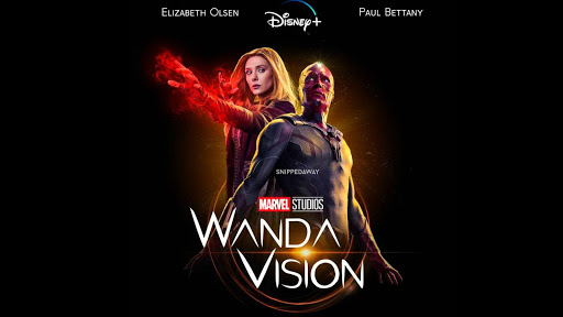 A promotional image for Marvel's new series Wandavision, which is streaming on Disney+.