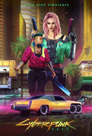instacodez.com  A promotional poster for Cyberpunk 2077