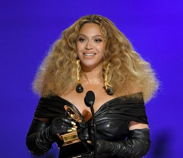 Beyonce accepts the Grammy Award for Best RnB Performance. Kevin Winters // Getty Images