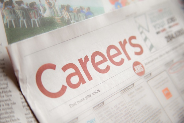 Careers section in a newspaper.