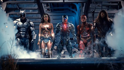 The Justice League assembling