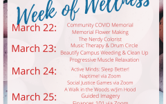 The Week of Wellness Schedule that was sent out to students