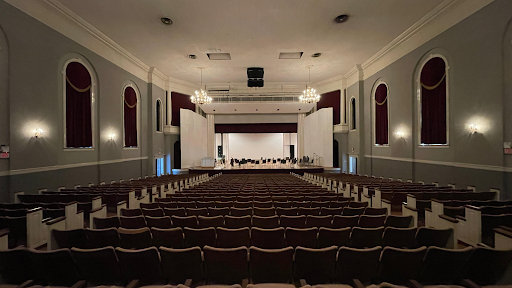 An empty Dana Auditorium, as it was for much of the pandemic.