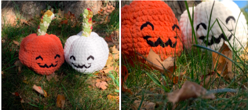 Crochet pumpkins made by MariaJose Guerrero Hernandez