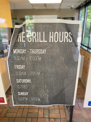 A photo of the Guilford Grill's dining hours // via Lideah Shivley